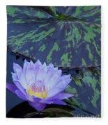 Violet Lily Fleece Blanket