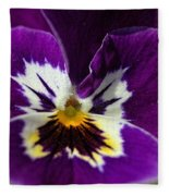Violet Macro Fleece Blanket