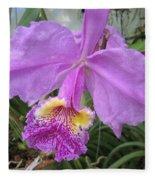 Violet Orchid Fleece Blanket