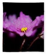 Violet Prayers Fleece Blanket