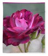 Violet Red Rose Fleece Blanket