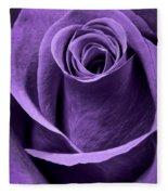 Violet Rose Fleece Blanket