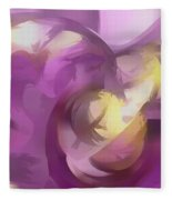 Violet Summer Pastel Abstract Fleece Blanket