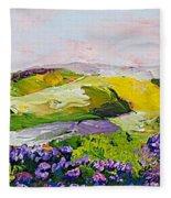 Violet Sunrise Fleece Blanket