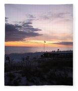 Violet Sunset Over The Sea Fleece Blanket