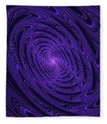 Violet Vortex-3 Fleece Blanket