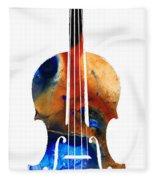 Violin Art By Sharon Cummings Fleece Blanket