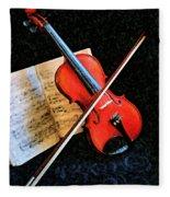 Violin Impression Redux Fleece Blanket