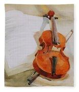 Violin Fleece Blanket