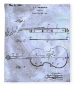 Violin Patent Poster Fleece Blanket