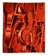 Violin Sculpture  Fleece Blanket