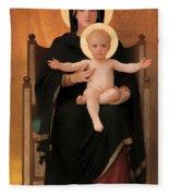 Virgin And Child Fleece Blanket