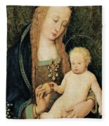 Virgin And Child With Pomegranate Fleece Blanket