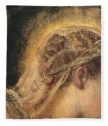 Virgin Mary  Fleece Blanket