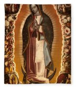 Virgin Of Guadalupe Fleece Blanket