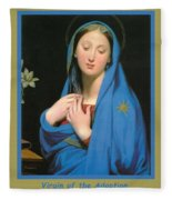 Virgin Of The Adoption Poster Fleece Blanket