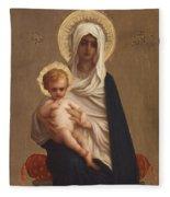 Virgin Of The Deliverance Fleece Blanket
