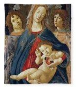 Virgin Of The Pomegranate Fleece Blanket