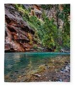 Virgin River Zion National Park Utah Fleece Blanket