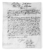 Virginia Council, 1778 Fleece Blanket