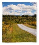Yesterday - Virginia Country Road Fleece Blanket