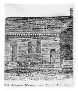 Virginia Court House Fleece Blanket