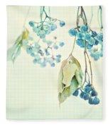 Virginia Creeper Berries Fleece Blanket