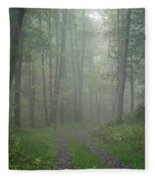 Virginia - Shenandoah National Park - Road Not Taken Fleece Blanket