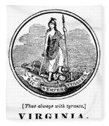 Virginia State Seal Fleece Blanket