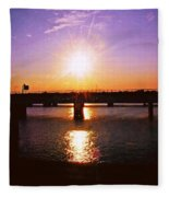 Virginia Sunset Fleece Blanket