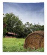 Virginia Tobacco Barn Fleece Blanket