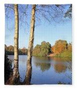 Virginia Water Windsor Berkshire Uk  Fleece Blanket