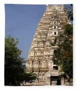 Virupaksha Temple In Hampi Fleece Blanket