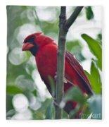 Vision In Red Fleece Blanket