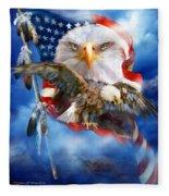 Vision Of Freedom Fleece Blanket