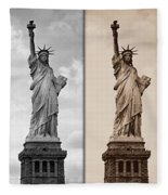 Visions Of Liberty Fleece Blanket