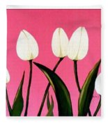 Visions Of Springtime - Abstract - Triptych Fleece Blanket