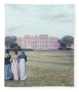visiting Mr Darcy Fleece Blanket