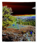 Visiting Rimrock In Spokane Fleece Blanket