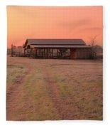 Visiting The Farm Fleece Blanket