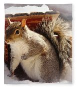 Visiting The Outhouse Fleece Blanket