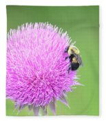 Visitor On Thistle Fleece Blanket
