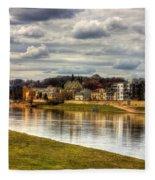 Vistula River In Cracow Fleece Blanket