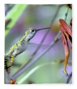 Vitality Of A Hummingbird Fleece Blanket