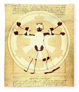 Vitruvian Stormtrooper Ghost Fleece Blanket
