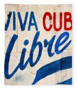 Viva Cuba Libre Sign Fleece Blanket