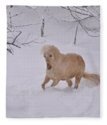 Viva Zapata Contratercero Dances In The Snow Fleece Blanket
