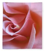 Vivacious Pink Rose 2 Fleece Blanket