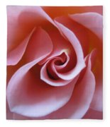 Vivacious Pink Rose 3 Fleece Blanket
