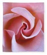 Vivacious Pink Rose 5 Fleece Blanket